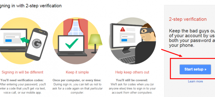 Set Up 2-Step Verification To Your Gmail Account