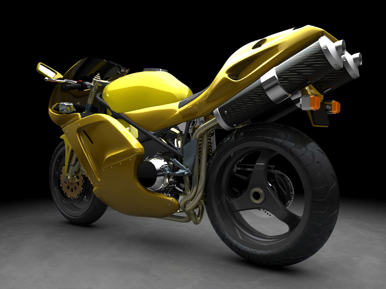 yellow-sports-bike