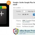 Google Plus Invite is For sale !