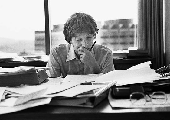 Bill Gates at his Bellevue Office