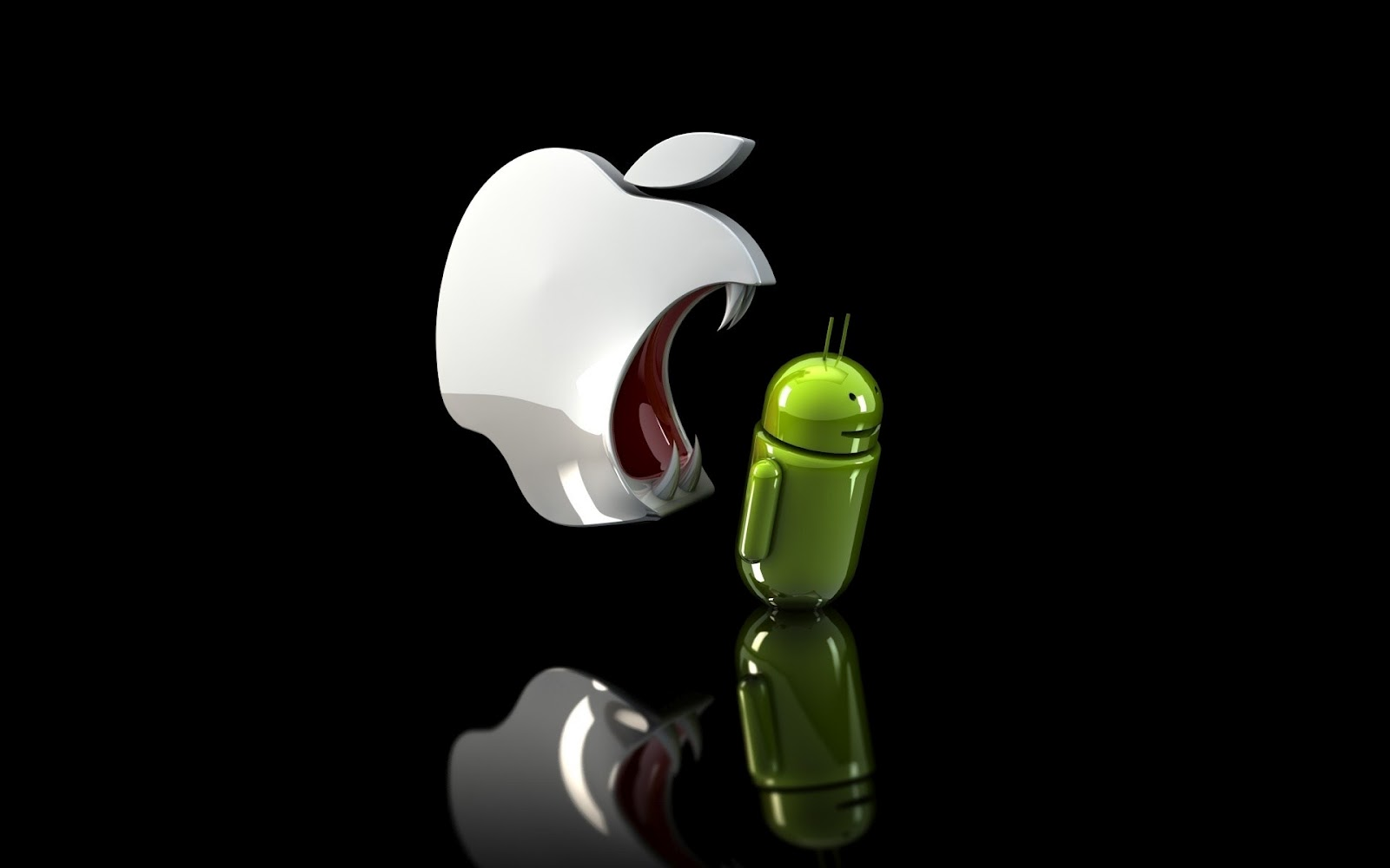 Apple-Android-wallpaper-fight hot wallpaper, sexy wallpaper