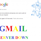 GMail Server Down – Error 502