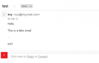email from fake emailed