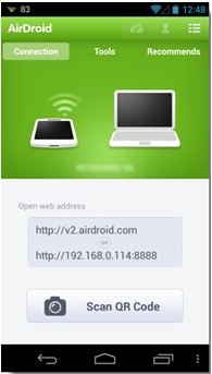 install and set up AirDroid 2 beta for Android