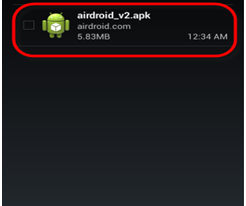 set up AirDroid 2 beta for Android
