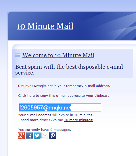 10 Minutes Mail