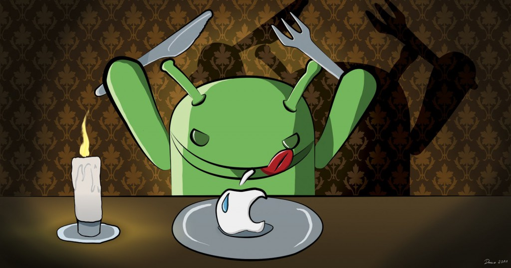 candle-light-dinner-of-apple-android-funny