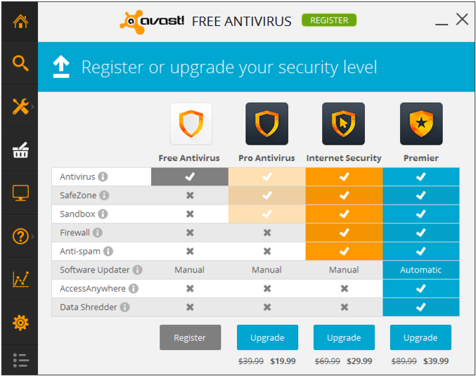 avast how to delete infected files