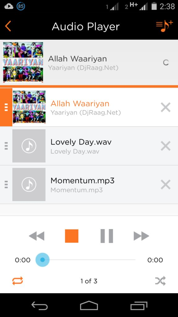 pCloud Audio Player