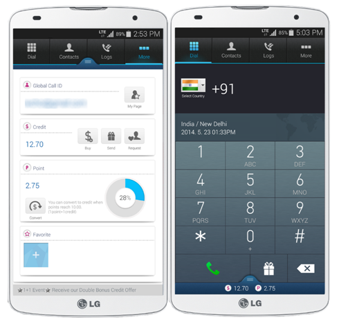 Global Call App Being Used