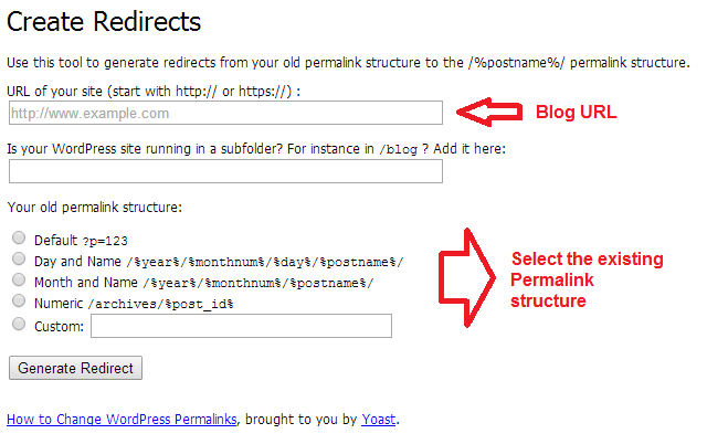 permalink redirects