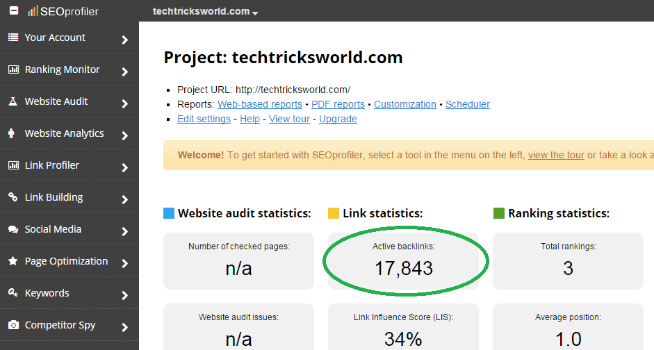 SEOprofiler techtricksworld