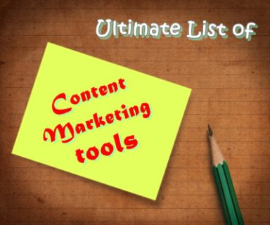 Ultimate List of Content Marketing Tools
