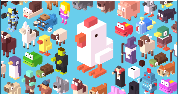 In Crossy Road – No Time to Stop