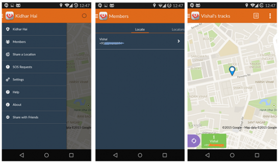 Kidhar Hai app – Track the location of your friends, family, vehicles and assets