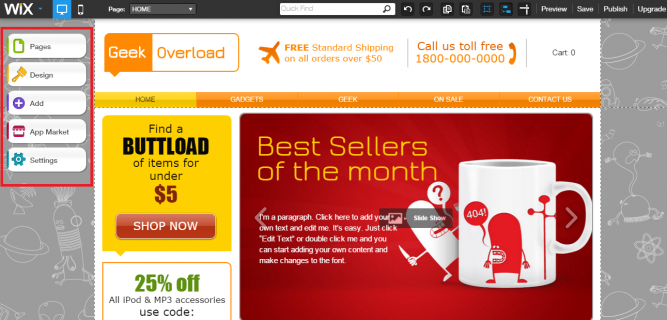 Create stunning e-commerce websites with WixStores