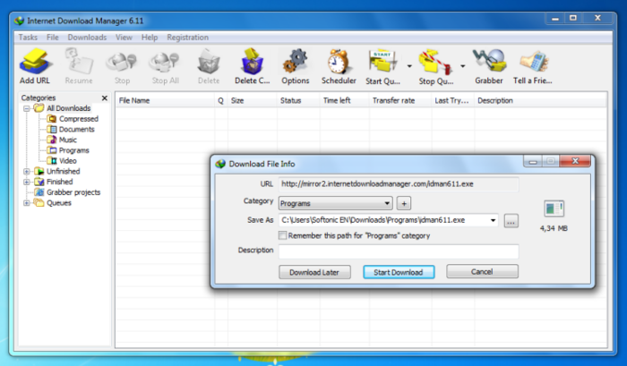 intetnet download manager