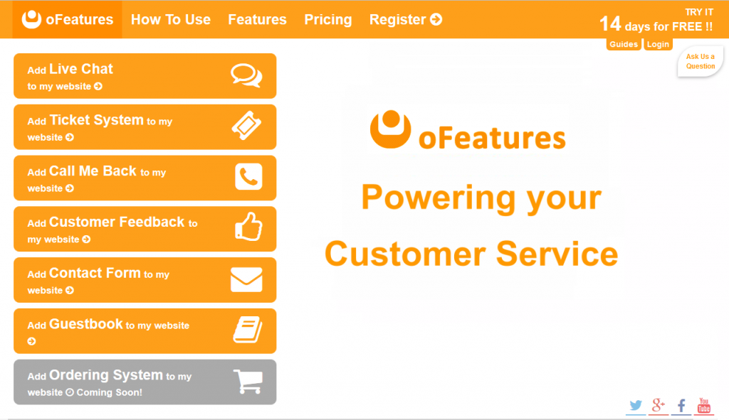 oFeatures-home-page