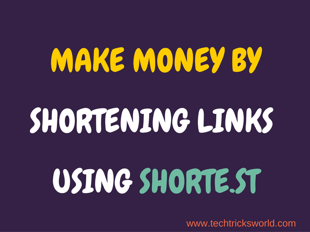 Make money by shortening links