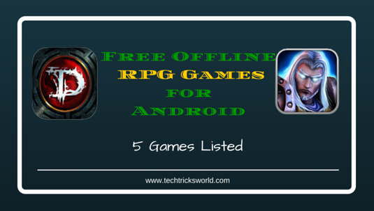 5 Free Offline RPG Games for Android