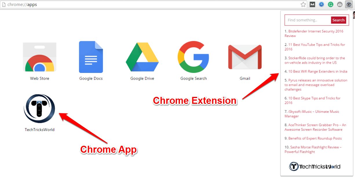 create chrome app and extension 1