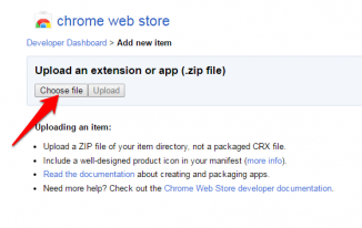 Uploading chrome extension to web store