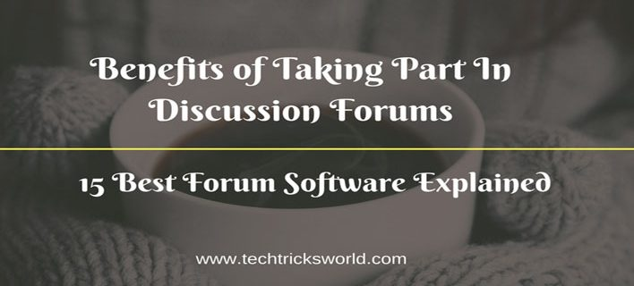 Benefits of Taking Part In Discussion Forums.15 Best Forum Software Explained