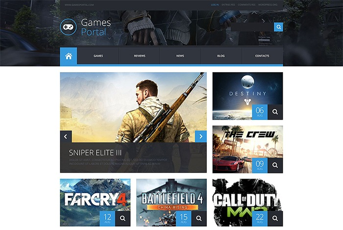 Games Portal WordPress Theme