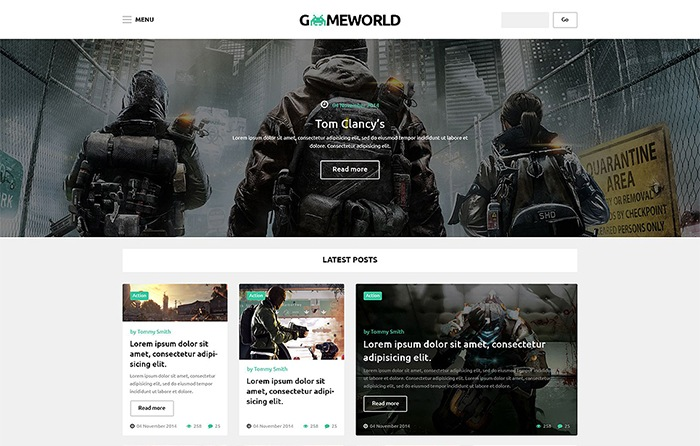GamesWorld WordPress Theme