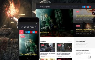 FinestGame WordPress Template for video-games lovers