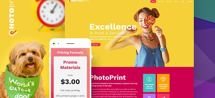 Hotoprint responsive WordPress Theme