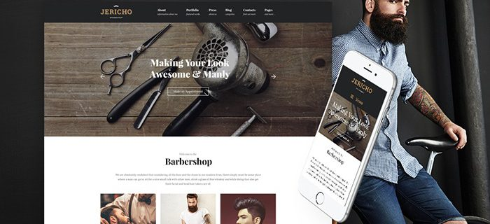 Jerico barber shop WordPress Theme