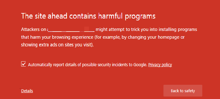 "How to Fix the Error ""the site ahead contains harmful Programs""?"