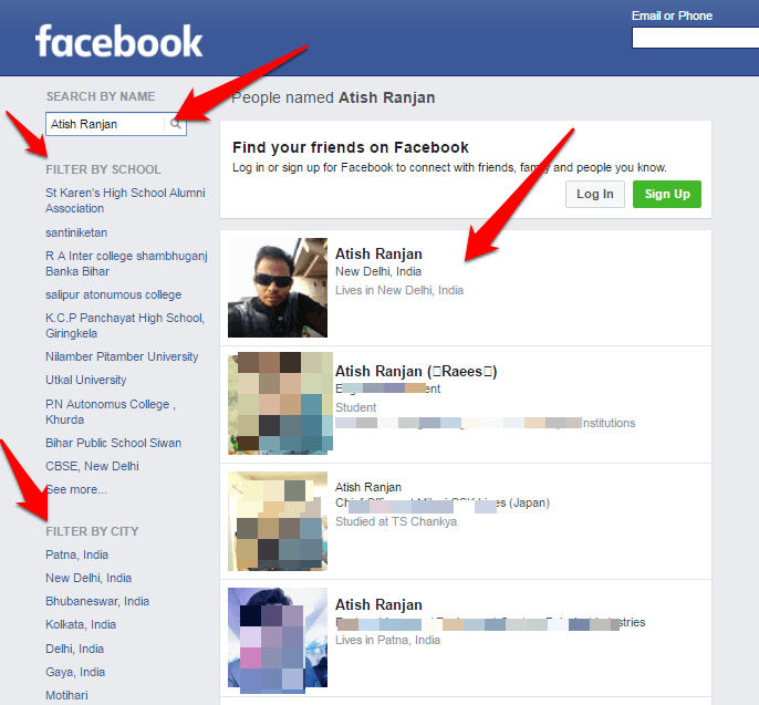How To Do Facebook Search For People Without Logging In?