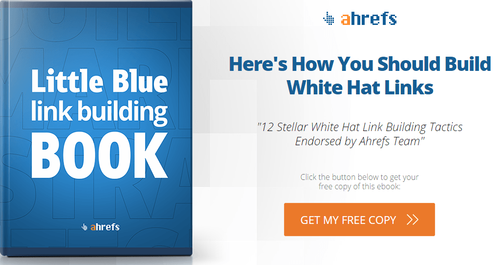Little Blue Link Building Book - Best Link Building Practices from Ahrefs