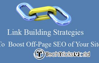Link Building Strategies to  Boost Off-Page SEO of your site