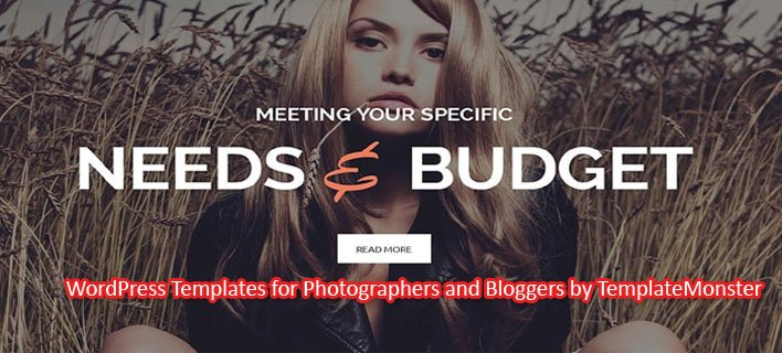 Top 10 WordPress Templates for Bloggers and Photographers by TemplateMonster