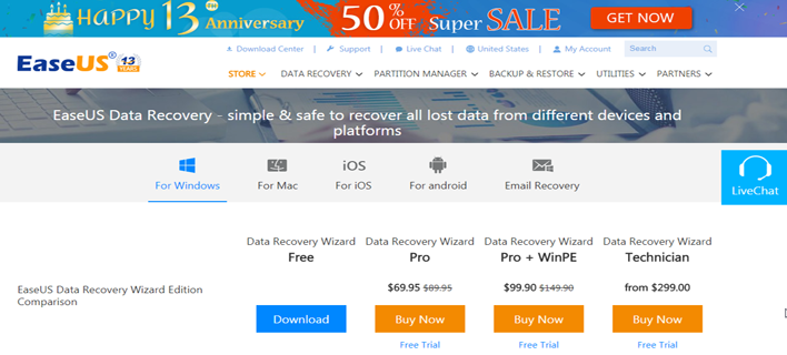 EaseUS Data Recovery Wizard To Recover Your Data