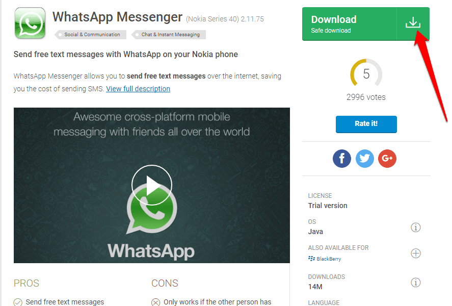 How to Download WhatsApp for Java Phones?