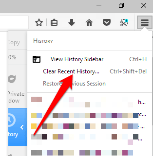 Clear cache in Firefox