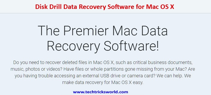 Disk Drill Data Recovery Software for Mac OS X