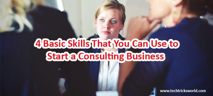 4 Basic Skills That You Can Use to Start a Consulting Business