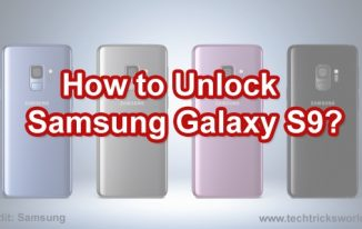 How to Unlock Samsung Galaxy S9?