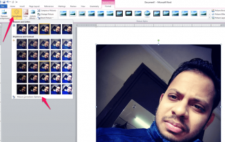 edit images using MS Word