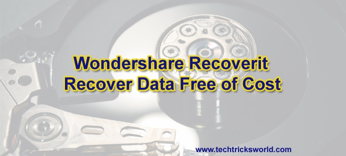 Wondershare Recoverit – Recover Data Free of Cost