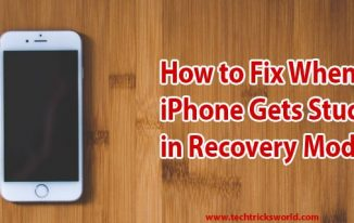 How to Fix When iPhone Gets Stuck in Recovery Mode?