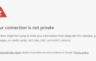 How to fix NET::ERR_CERT_AUTHORITY_INVALID Chrome Error