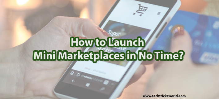 How to Launch Mini Marketplaces in No Time?