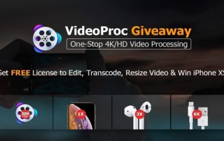 VideoProc – 4K Video Processing Solution (free license + win iPhone XS)