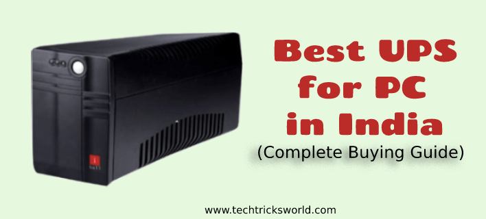 Best UPS for PC in India – Complete Buying Guide